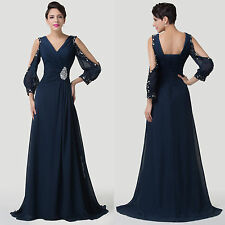 2014 Unique Sexy Bridesmaid Formal Evening Gown Prom Party Long Dresses Sz 2-16