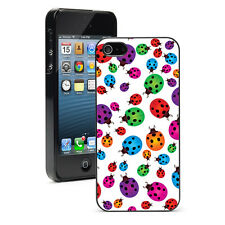 For Apple iPhone 4 4S 5 5S 5c 6 6s Plus Hard Case Cover 11 Colorful Ladybugs