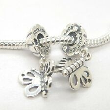 NEW Silver Christmas day best gift for Friends Forever Butterfly Dangle Charm
