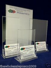 A4 A5 A6 & DL Acrylic Poster Holder Menu & Business Card Perspex Display Stand