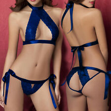 Womens Sexy Lingerie sexy underwear suits open fork exposed breast sexy bikini