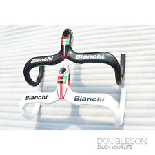 OEM Product Bianchi Carbon Fiber Aluminum Integrated Drop Handlebar Road Bike