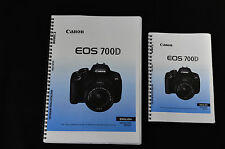 ~PRINTED~ Canon EOS 700D User guide Instruction manual    A4 or handy A5