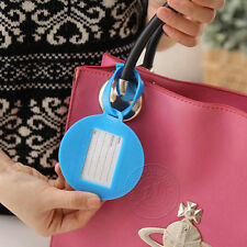 Practical Cute Candy Colors Silicone Luggage Tag Label Strap Bag Suitcase Travel