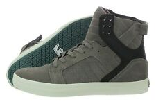 Supra Skytop S18236-GBW Grey Suede Skateboarding Casual Shoes Medium (D, M) Mens