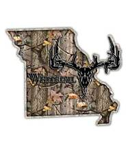 Missouri State Hunting Decal - Whitetail Deer Skull Camo Sticker MO