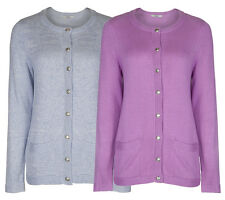 Marks & Spencer Womens Luxury Knitted Cardigan M&S Cotton With Angora Cardie Top