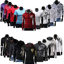 Mens Slim Fit Casual Shirt T-Shirts Tee Tops Hoodie Pullover Blouse Jacket Coat