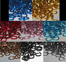 """SQUARE 16 5/16"""" ID Aluminum JUMP RINGS ALL COLORS Saw Cut chainmail chain mail"""