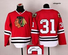 Autographed Stitched Chicago Blackhawks Hockey Jerseys Sports Outdoors Ice Mens