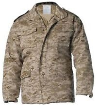 Desert Digital Camouflage USMC Military M-65 Field Jacket Coat With Liner 8582