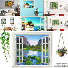 3D DIY Removable Mediterranean Scenery Landscape Window Home Decor Wall Stickers