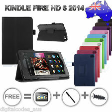 "Premium Amazon Kindle Fire HD 6 2014 Smart Stand Case Cover 6"" inch"