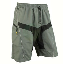 Mens MTB Mountain Downhill Bike Cycling Baggy Shorts Detachable Padded 5 Sizes