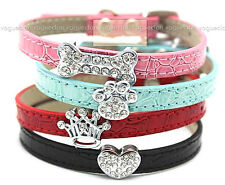 Buy 3 Get 1 Free -Bling Crystal Bone Crown Heart Paw Puppy Pet Cats Dogs Collar