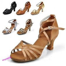 2015Womens Fashion  Ballroom Latin Tango Dance Shoes heeled Salsa 6 Color 8Sizes