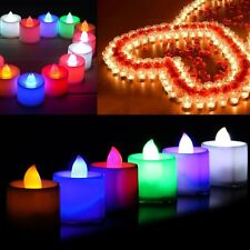 Party Flickering Flicker Light Flameless Battery Operated LED Tealight Candles