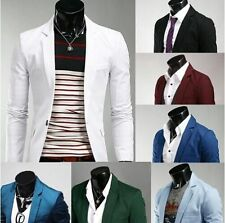 Men Stylish Slim Fit One Button Blazers Lightweight Casual Jacket-US Seller