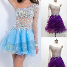 Beaded Short Homecoming Party Ball Gowns Evening Cocktail Prom Dresses Size 6-16