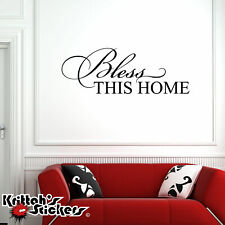 Bless This Home Vinyl Wall Decal Religious Quote home decor jesus sticker L126