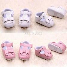 Sweet Baby PU Leather Shoes Infant Girl Anti-slip Bowknot Walking Crib Shoes B46