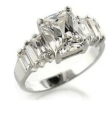 9CT Gold plated Ring with Clear Princess Cut Cubic Zirconia Stone R92