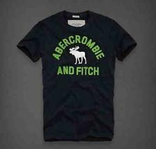 Abercrombie & Fitch A&F T Shirt NAVY with GREEN Sizes S - M - L - XL - XXL