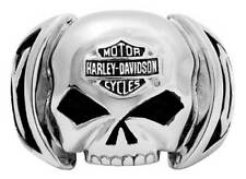 Harley-Davidson Men's Skull Ring Stainless Steel HSR0004