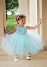Pageant Wedding Xmas Baby Girls Kids Party Flower Tulle Tutu Gown Formal Dresses
