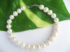 7-8mm AAA Near Round Real Cultured Freshwater Pearl Bracelets Gifts any Occasion