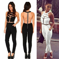 Hot Women Lady Gauze Outfit Bodycon Jumpsuit&Rompers Clubwear Playsuit Trousers