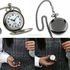 NEW CLASSIC SILVER VINTAGE STAINLESS Antique MENS POCKET WATCH 8HOT