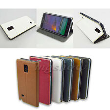 Wallet Flip PU Leather Cover Case Card Stand For Samsung Galaxy Note 4 N9100