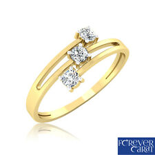Certified 0.21Ct Natural & Real Diamond Ring 14kt Hallmarked Gold Ring Jewellery