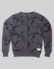 Brand New King Apparel Night Camo Crewneck Sweater Heather Navy ,Size S-XL