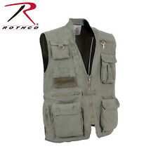 OLIVE DRAB Outdoors 18 Pkt Safari Hunting Travel Outback Journalists Vest 7580