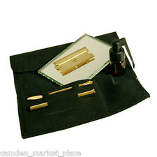 Snorting Kit Gold Silver Snuff Snorter Set Sniff Bottle Spoon Glass Tube Powder