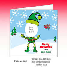 Personalised Own Photo Christmas Card Elf yourself  buzz invites all occasions