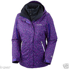 COLUMBIA Bugaboo Womens S/M/L Parka/Jacket/Coat Winter 3-in-1 Hyper Purple NWOT