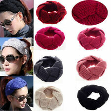 Sweet Women  hairband  Crochet Headband Knit Flower Winter Ear Warmer Headwrap