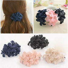 Great Handmade women girl flower Banana barrette hair clip hair pin claw 1pcs