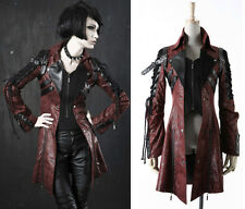 Punk Rave Goth Man-made Leather Rock studded Jacket Coat Streampunk Lot S-X XL