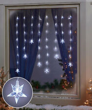 Cool White LED Christmas Holiday Window Snowflakes/Stars Icicle Lights