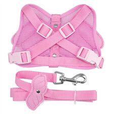 Angel Wings Puppy Dog Leashes Adjustable Walking Harness Sizes M-Pink