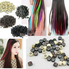500 PCS Silicone Micro Links Rings Lined Beads for Hair Extensions tool 5 Color