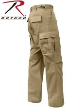Khaki Police Security 6-Pocket Military Poly/Cotton BDU Cargo Fatigue Pants 7901