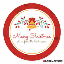 PERSONALISED Christmas Present Sticker Labels | Xmas Business Gift | Belle