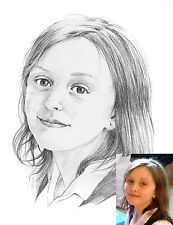 CHILDREN'S PORTRAITS Pencil drawings - £25 each for 2 or more different pictures