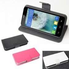 Leather Case Cover For Alcatel One Touch Idol Mini 6012X 6012A 6012W Cellphone