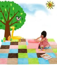 1pcs DIY Eva Soft Shaggy Floor Rug Carpet Mat Indoor Plush Carpet Puzzle Mats